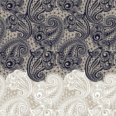 Paisley seamless lace pattern--model for design of gift packs, patterns fabric, wallpaper, web sites, etc. clip art vector