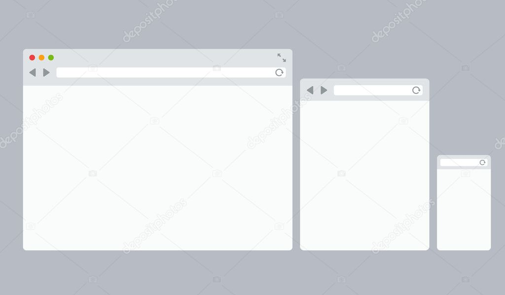 Flat vector browser templates