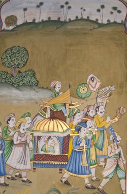 Traditional Indian Mural