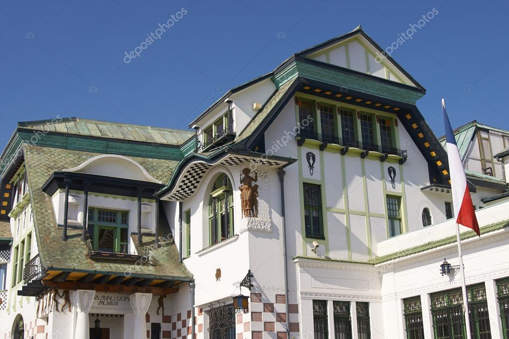 Jugendstilarchitektur in valparaiso — Stockfoto © richardsjeremy ...