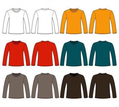 Long-sleeved T-shirt template