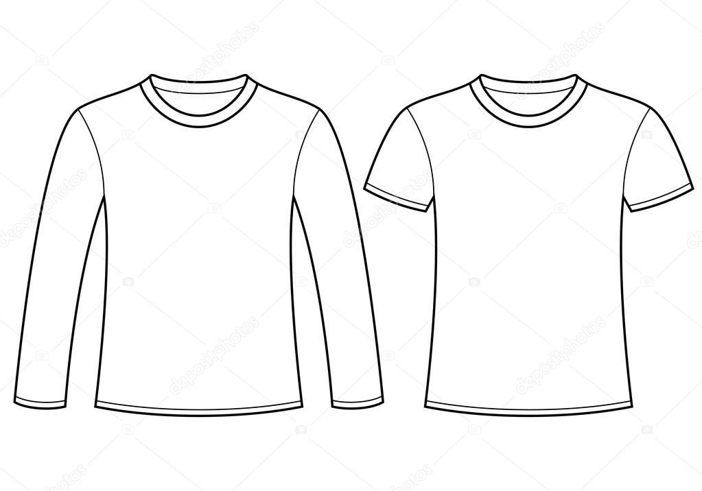 Langarm T-shirt und T-shirt-Vorlage — Stockvektor © nikolae #12879984
