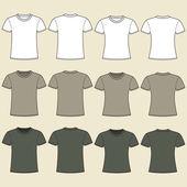 prázdná šablona trička. přední a zadní