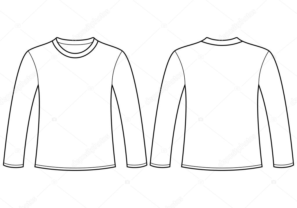 Szablon koszulka d ugi r kaw grafika wektorowa nikolae for Long sleeve t shirt template illustrator
