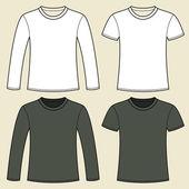 Langarm T-shirt und T-shirt-Vorlage