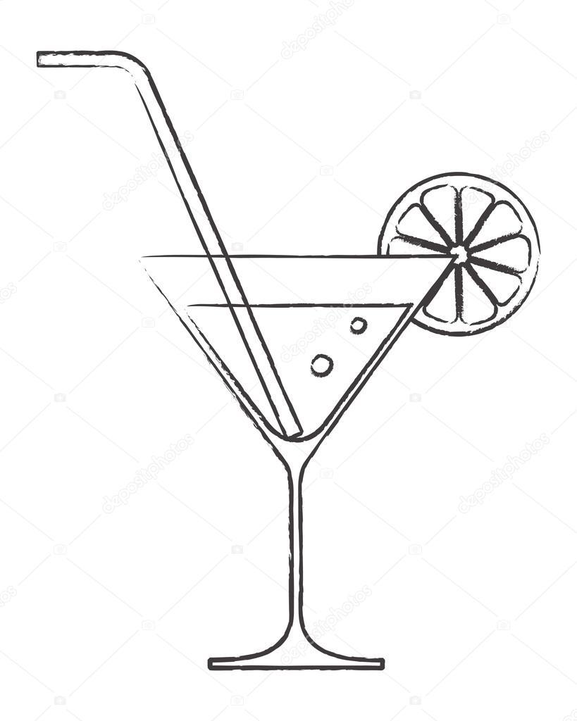 White And Black Drinking Glasses