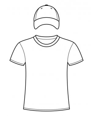 Blank t-shirt and cap template