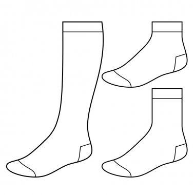 Set of blank socks