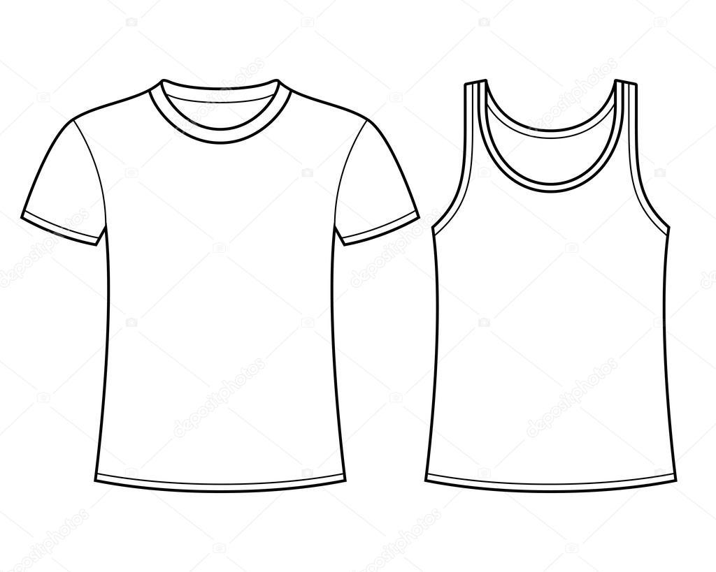 plantilla de camiseta y camiseta — Vector de stock © nikolae #25075599