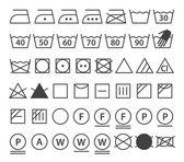 Fotografie soubor prací symboly. prádlo ikony