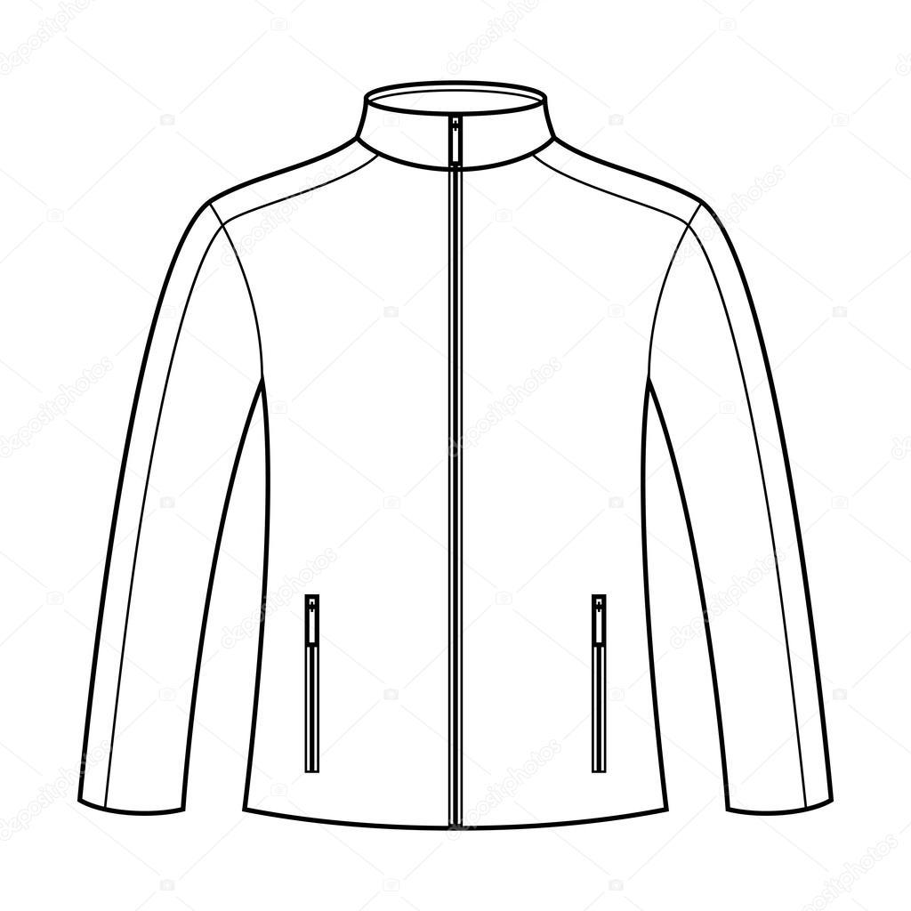 Jacket template — Stock Vector © nikolae #31496083