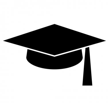 Mortar Board or Graduation Hat, Education symbol