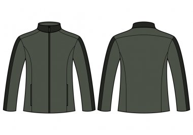 Jacket template - front and back