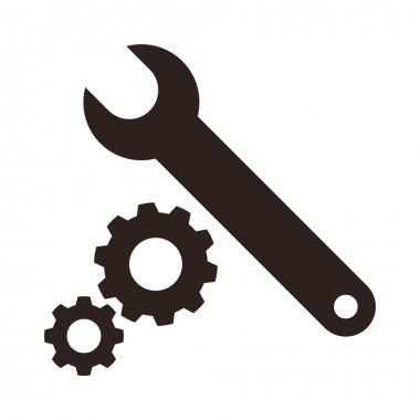 Wrench and gears icon