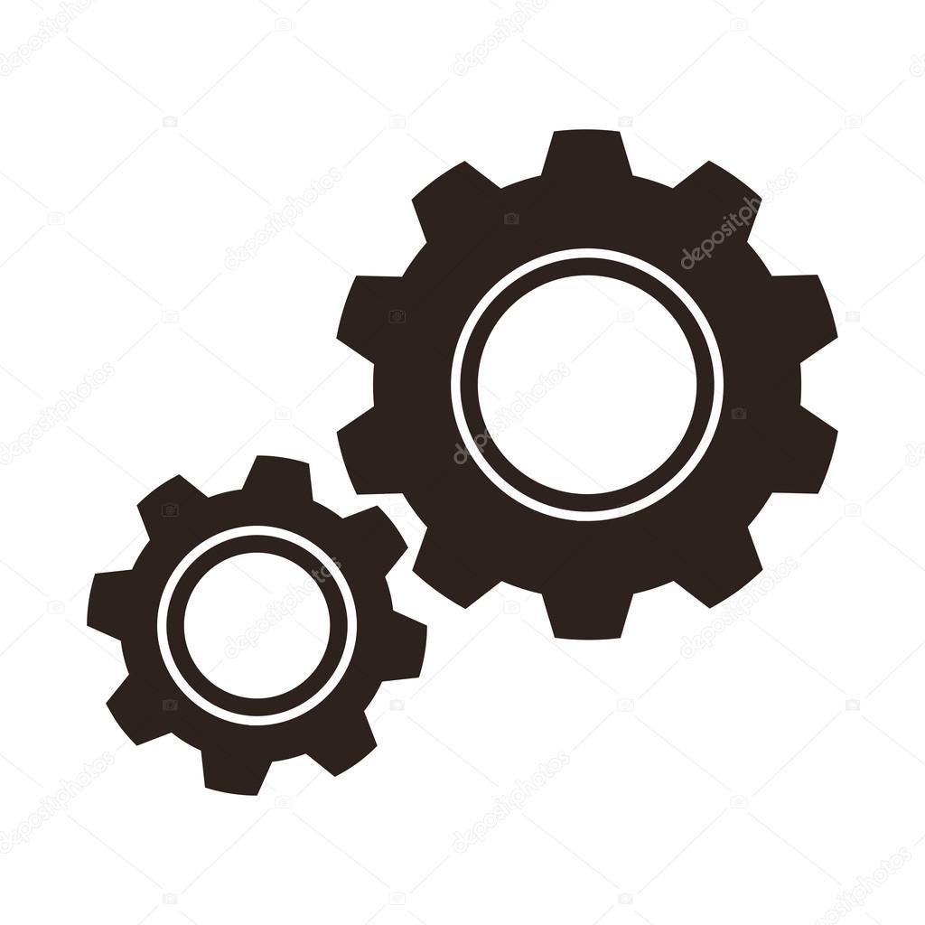 gears cogs icon stock vector nikolae 42618673