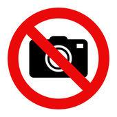 Fotografie kamery zakázané znamení