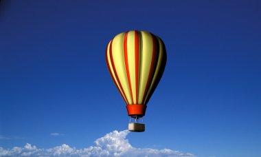 Air balloon flying in blue sky stock vector
