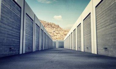 Unit storage stock vector