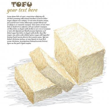 Tofu sliced
