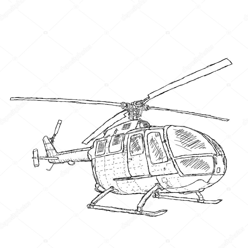 helicopter — stock vector © jomaplaon 14010383