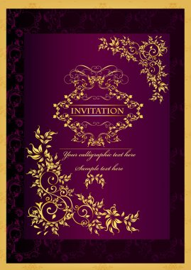 Luxury invitation background