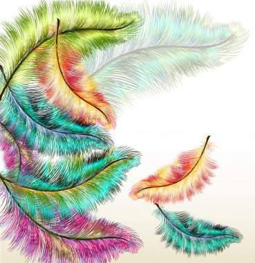 Colorful fashion background with vector filigree ferns