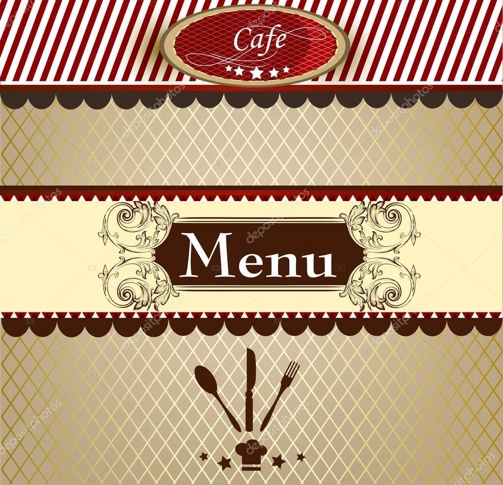 カフェのエレガントなメニュー デザイン ストックベクター