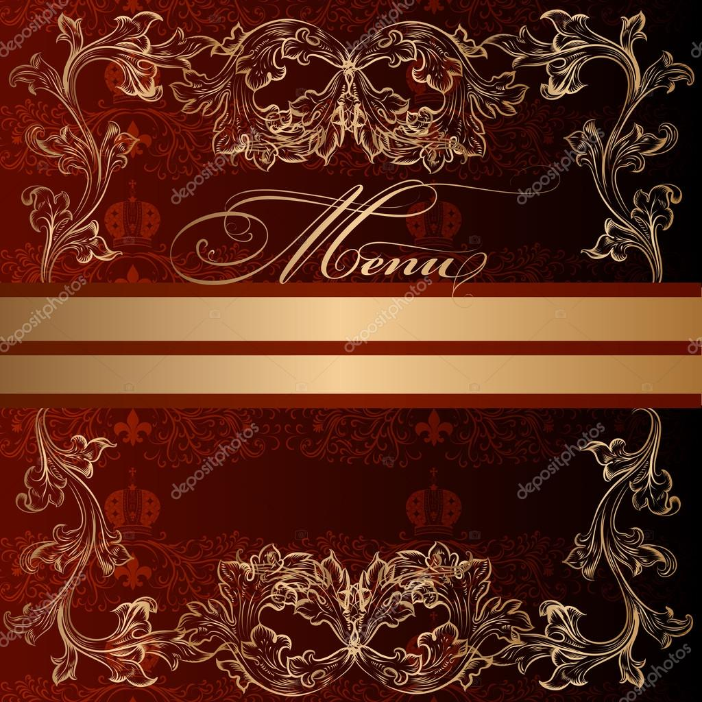 elegant menu design in luxury royal vintage style stock vector