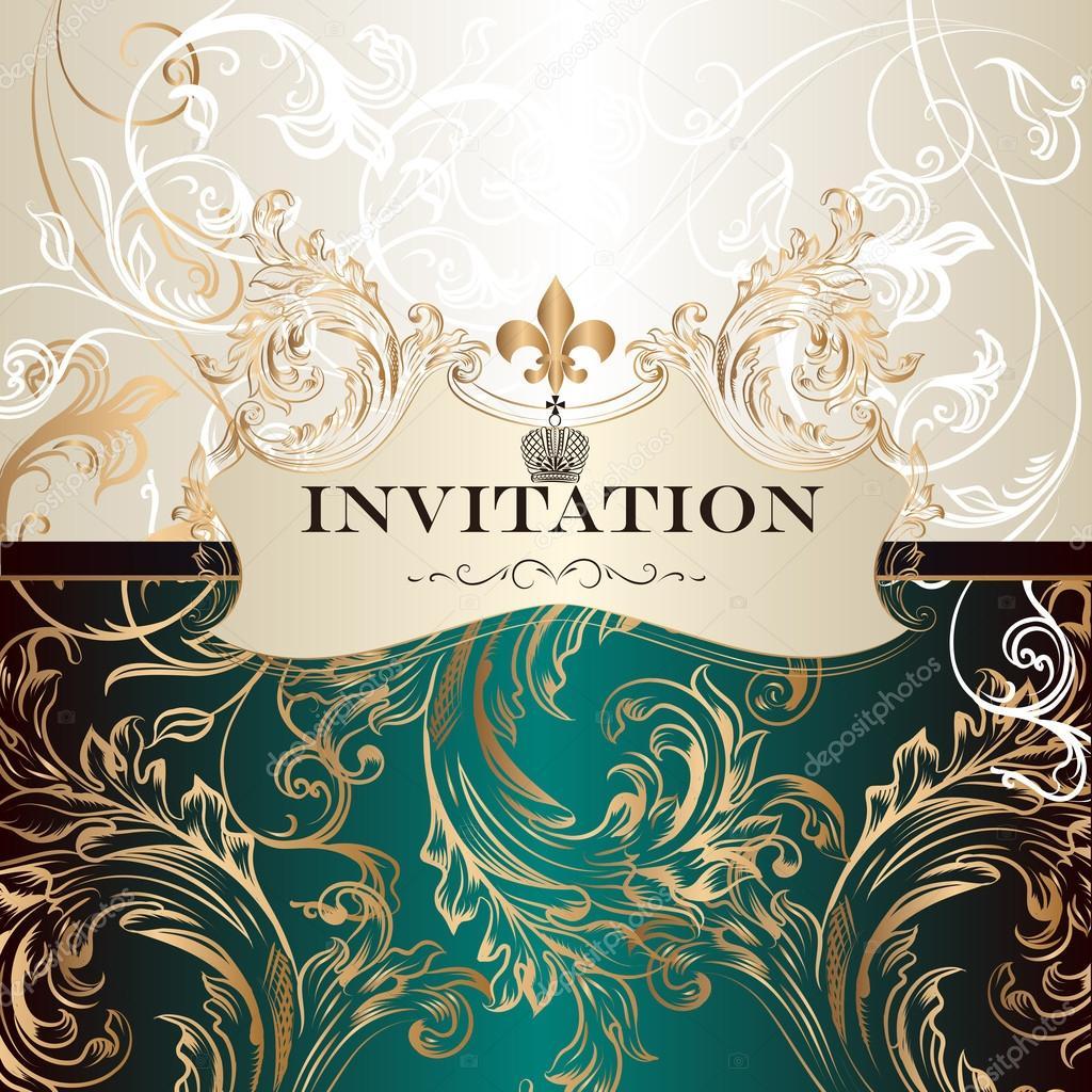 Elegant invitation card in royal style stock vector mashakotscur elegant invitation card in royal style stock vector stopboris Choice Image
