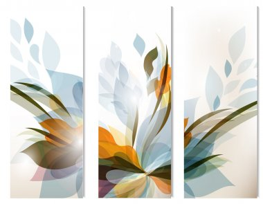 Set of vector abstract colorful backgrounds for design