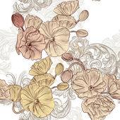 bezešvé tapety vzor s makovými květy