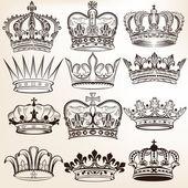 Fotografia raccolta di corone reale vettore per disegno araldico