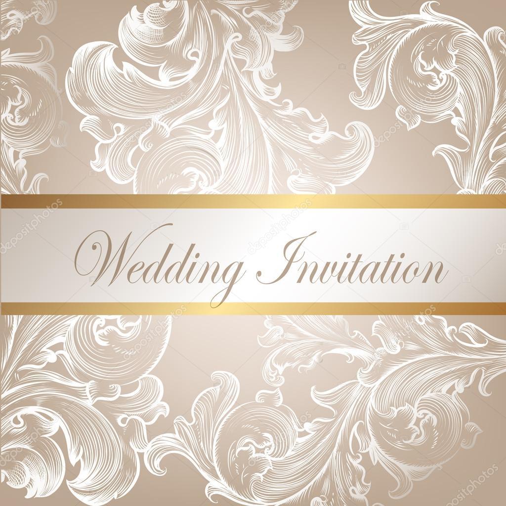 Wedding vector invitation card with swirl element stock vector wedding vector invitation card with swirl element stock vector stopboris Images
