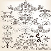 Collection of decorative vector vintage elements for design