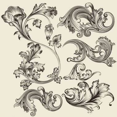 Set of vector flourishes