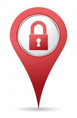 Location padlock icon