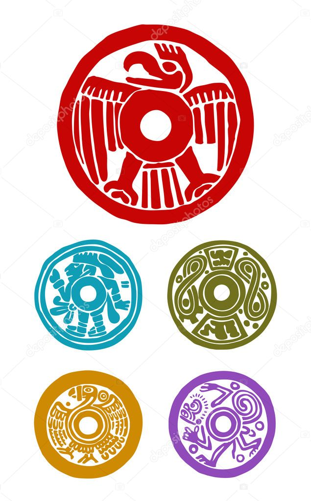 Mayan Symbols Stock Photo Oculo 19885051