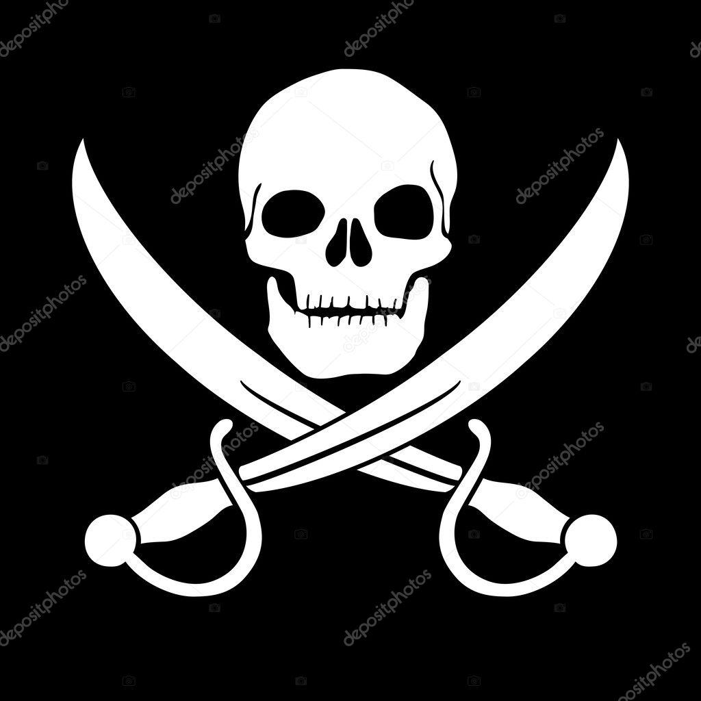 Pirate skull — Stock Photo, Image
