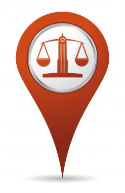 location lawyer balance icon