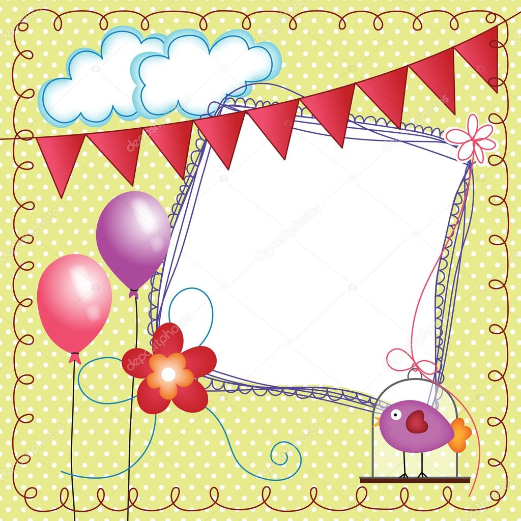 Digital scrapbook layout photo frames with bird cage stock digital scrapbook layout photo frames with bird cage stock vector jeuxipadfo Image collections