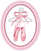 Fotografie baletní obuv popisek