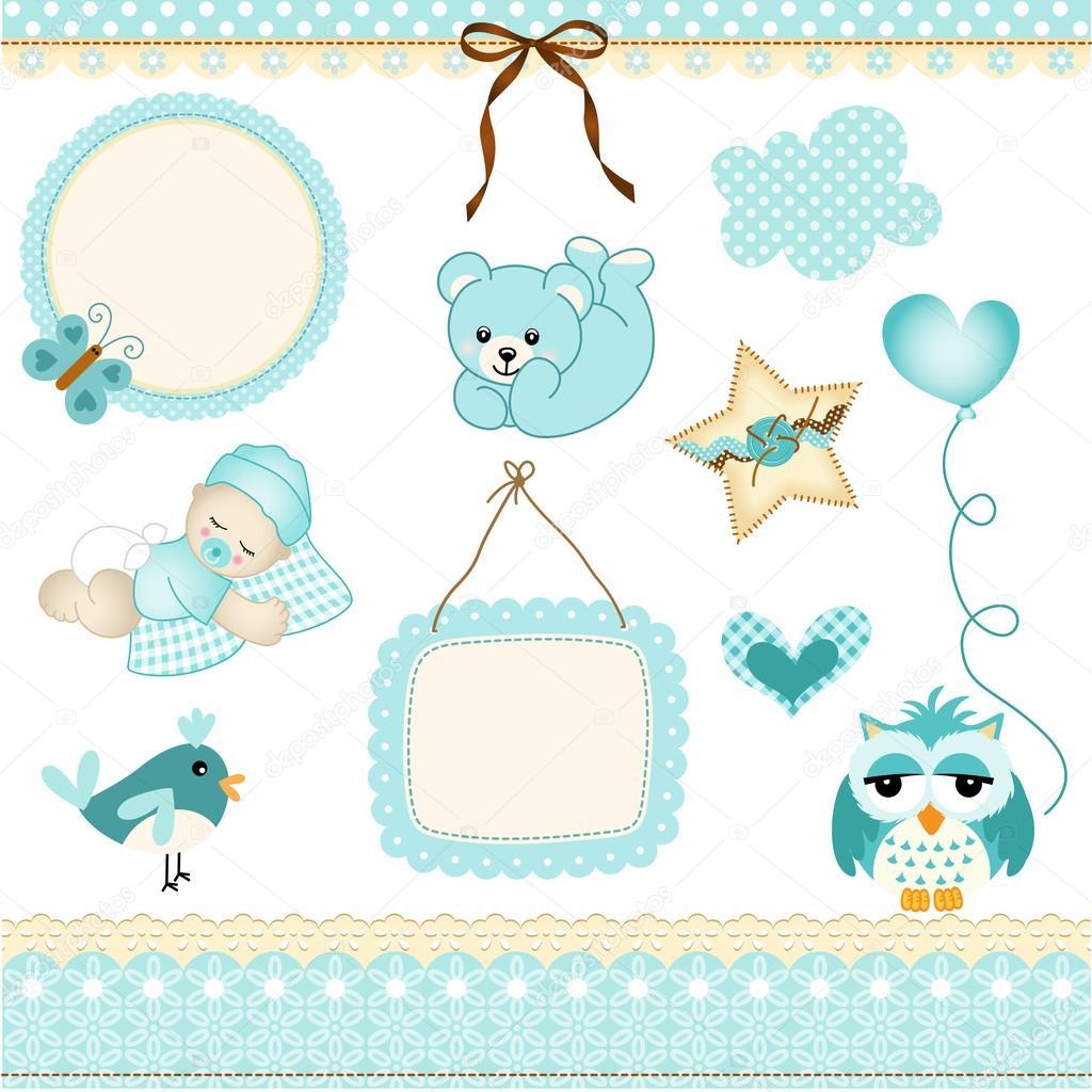 elementos de diseño de bebé niño — Vector de stock © socris79  25947053 98af4fc1efc0