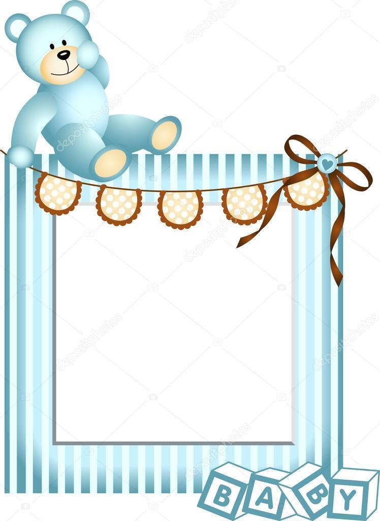 marco azul bebé — Archivo Imágenes Vectoriales © socris79 #28877625