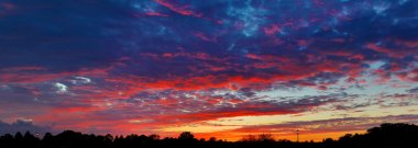 Spectacular Suburban Sunset Sky