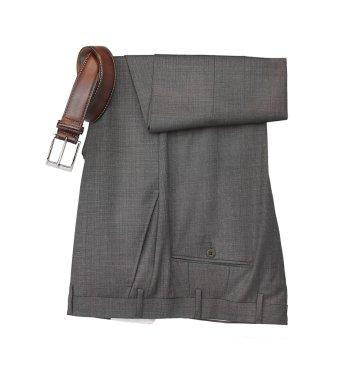 Man's dress pants and belt