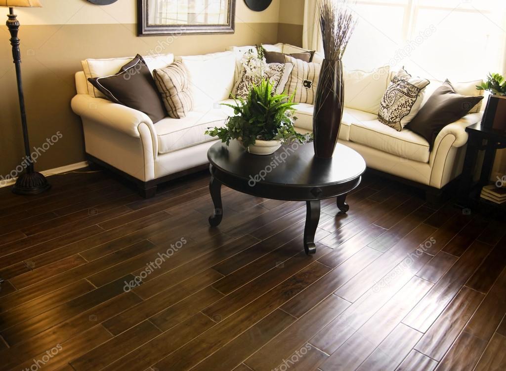 harde houten vloeren in woonkamer — Stockfoto © paulmhill #18478353