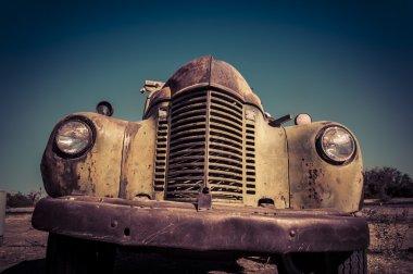 Aged vintage car