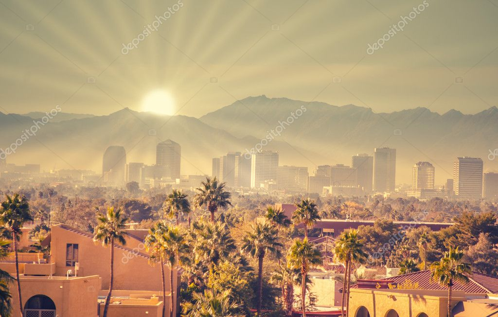 Sunrise over Phoenix Arizona, USA