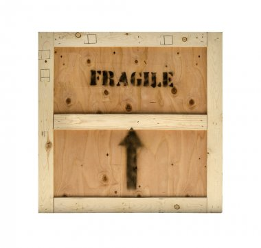 Wood crate fragile texture background