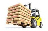 Photo Forklift with cement sacks